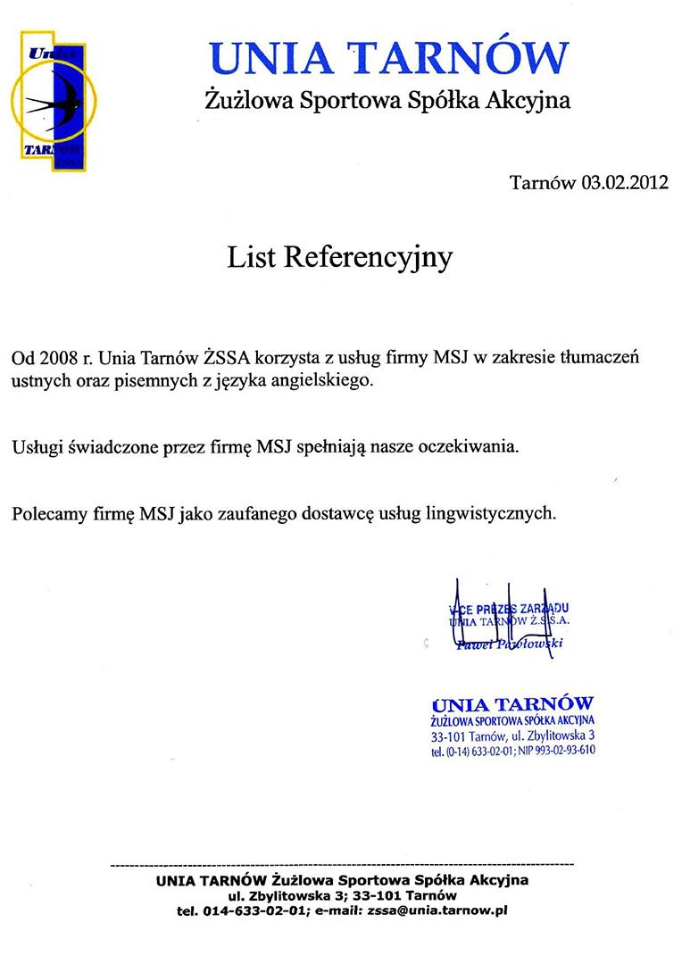 Unia Tarnów ŻSSA