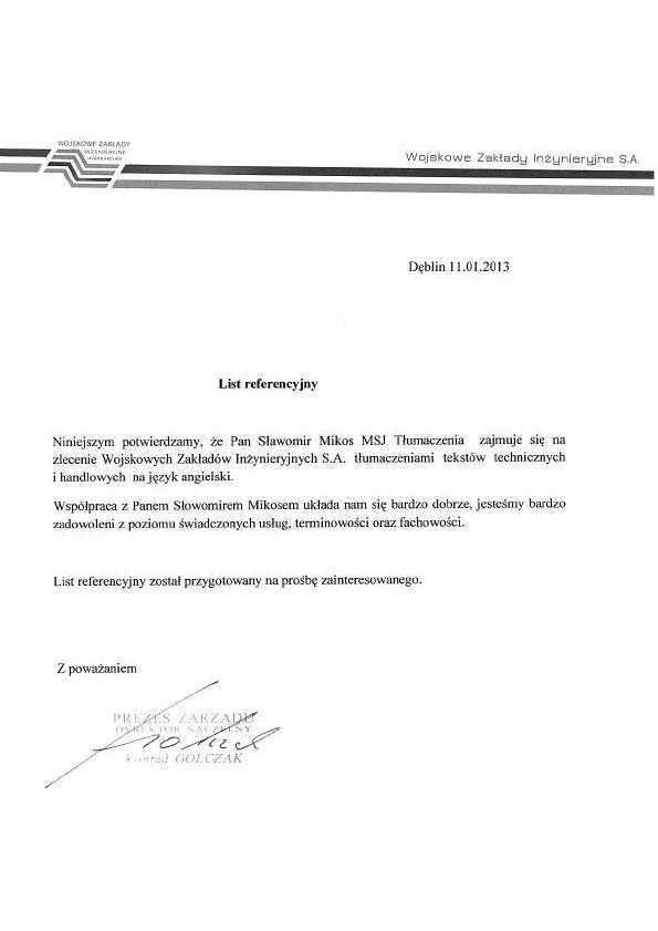 Wojskowe Zakłady Inżynieryjne S.A.